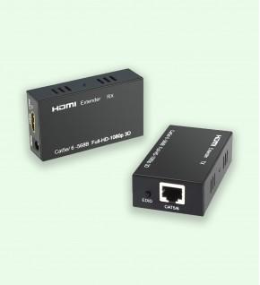 W-D-LINK Extendeur HDMI 1080P - 60M - Câble Réseau CAT5e & CAT6