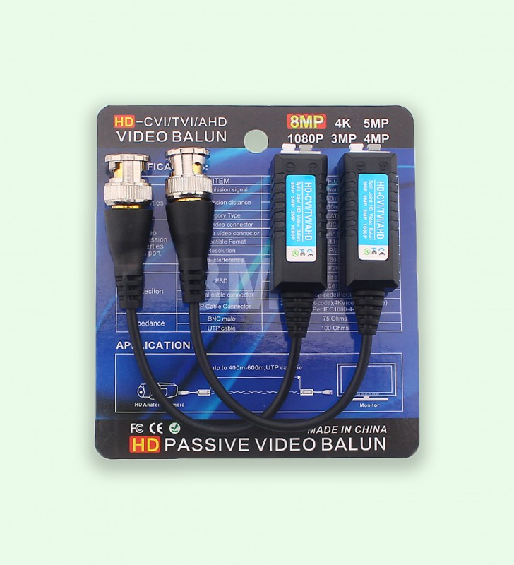 W-B-207D Balun vidéo CCTV HD- AHD TVI CVI, 1080P, 960P, 720P, 8MP, 5MP, 3MP W-D-LINK