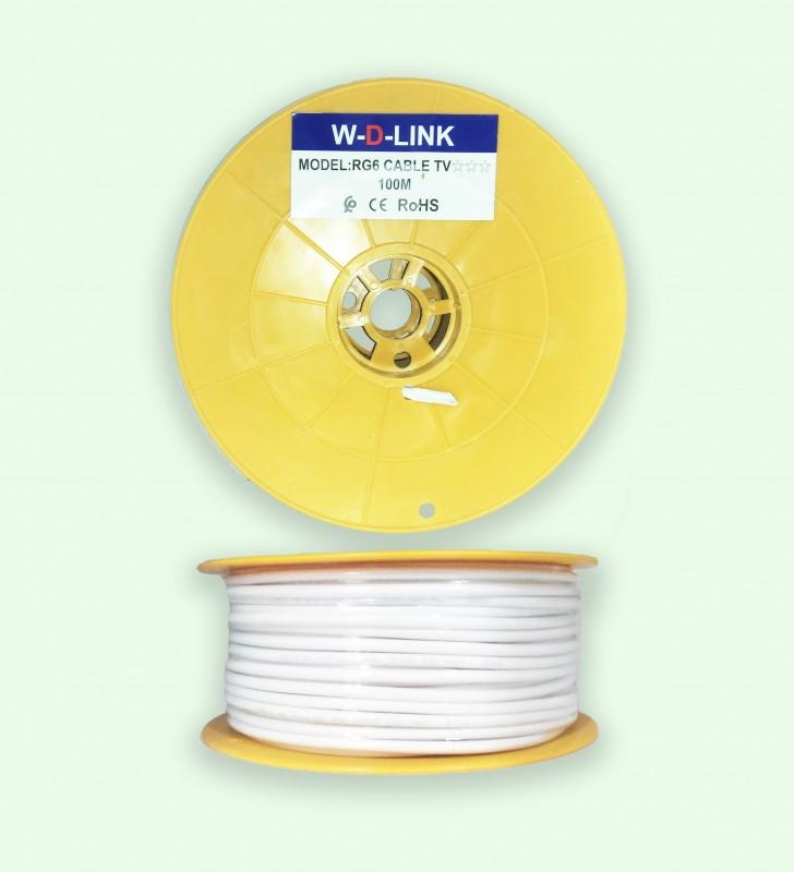 Câble Coaxial TV RG6*96 -100M- Marque W-D-LINK