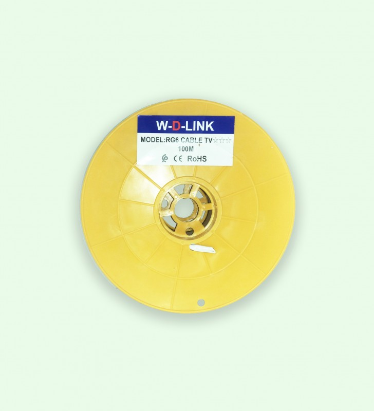 Câble Coaxial TV RG6*48 -100M- Marque W-D-LINK