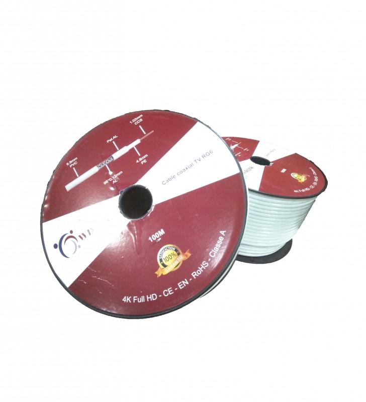 Câble Coaxial TV RG6*96 de la marque W-D-LINK