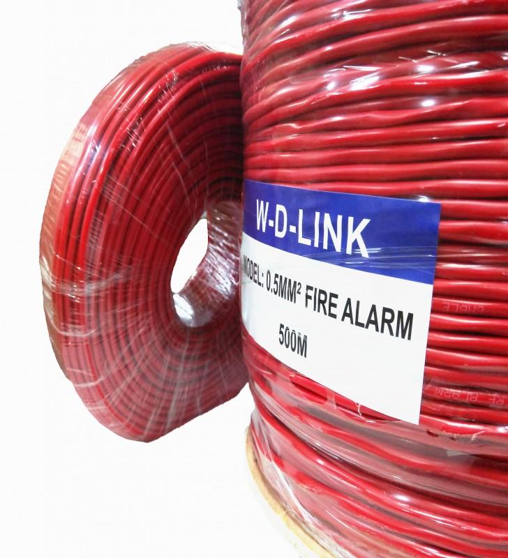 Câble Incendie W-D-LINK 500M : FIRE ALARM 0,8MM